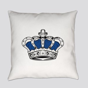 Crown - Blue Everyday Pillow