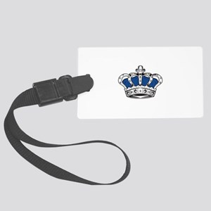 Crown - Blue Large Luggage Tag