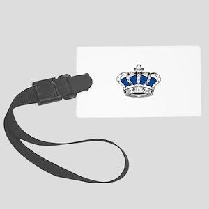 Crown - Blue Large Luggage Tag