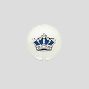 Crown - Blue Mini Button
