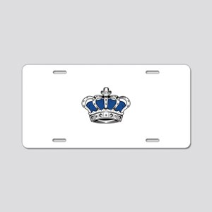 Crown - Blue Aluminum License Plate