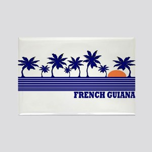 French Guiana Rectangle Magnet