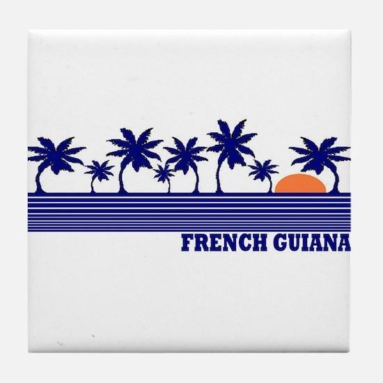 French Guiana Tile Coaster