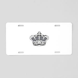 Crown - Grey Aluminum License Plate