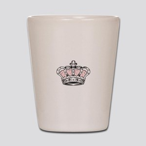 Crown - Pink Shot Glass