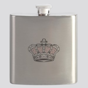 Crown - Pink Flask