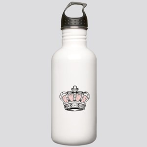 Crown - Pink Stainless Water Bottle 1.0L
