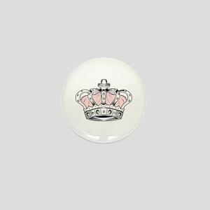 Crown - Pink Mini Button