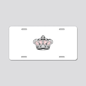 Crown - Pink Aluminum License Plate