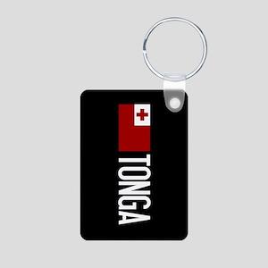 Tonga: Tongan Flag & Tonga Aluminum Photo Keychain