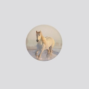 white horse h678 Mini Button