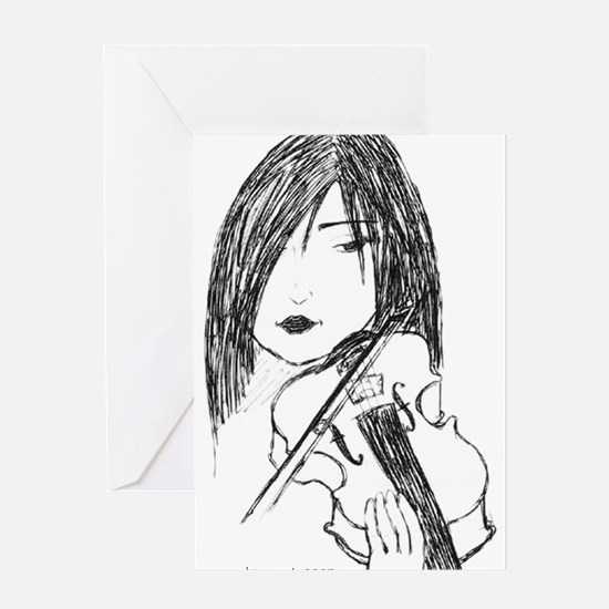 violin art Greeting Card