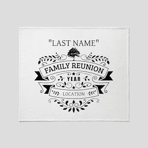 Custom Family Reunion Throw Blanket