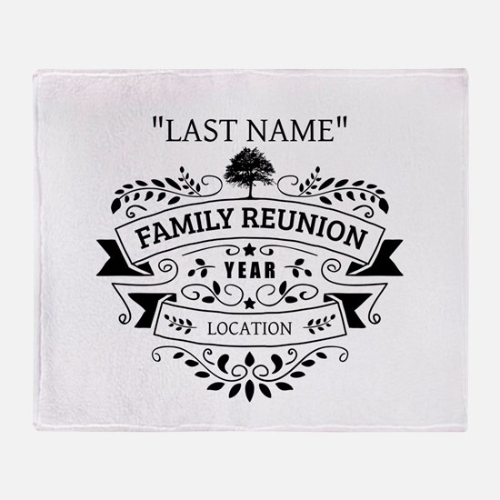 Custom Family Reunion Throw Blanket