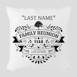 Custom Family Reunion Woven Throw Pillow