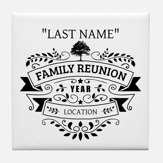 Custom Family Reunion Tile Coaster