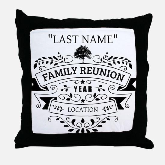 Custom Family Reunion Throw Pillow