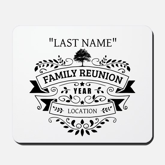 Custom Family Reunion Mousepad