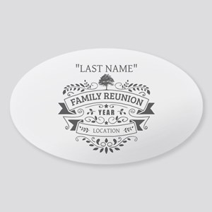 Custom Family Reunion Sticker (Oval)