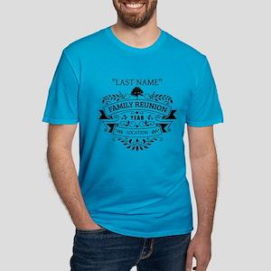Custom Family Reunion Men's Fitted T-Shirt (dark)