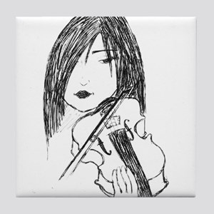 violin art Tile Coaster