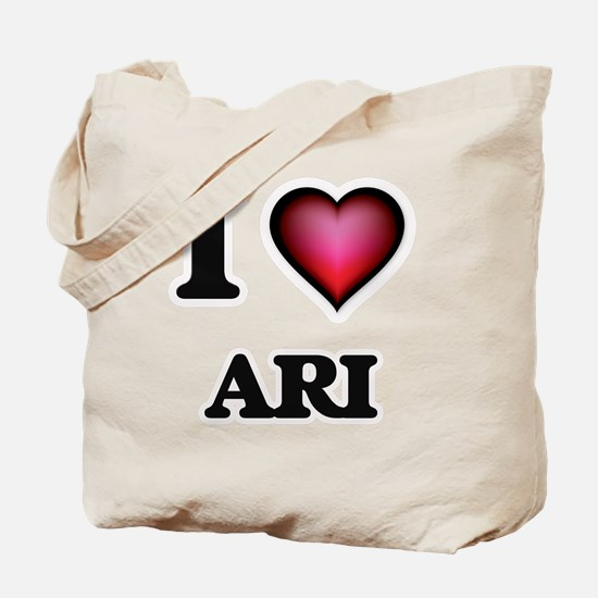 I love Ari Tote Bag