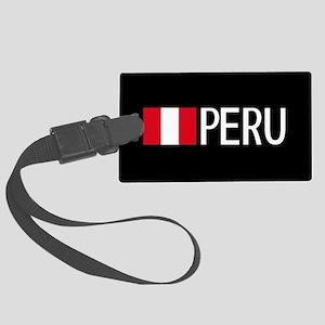 Peru: Peruvian Flag & Peru Large Luggage Tag