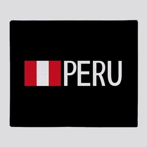 Peru: Peruvian Flag & Peru Throw Blanket