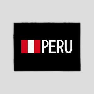 Peru: Peruvian Flag & Peru 5'x7'Area Rug