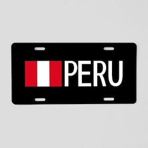 Peru: Peruvian Flag & Peru Aluminum License Plate