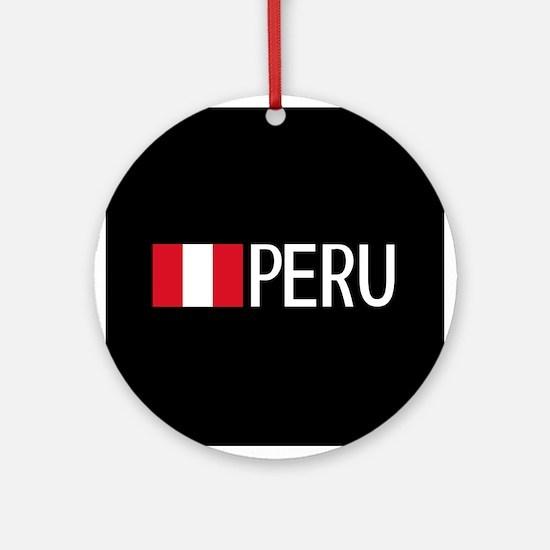 Peru: Peruvian Flag & Peru Round Ornament