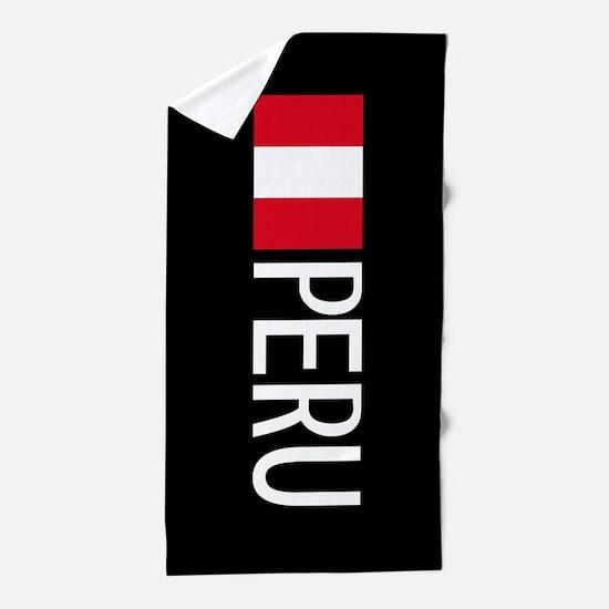 Peru: Peruvian Flag & Peru Beach Towel