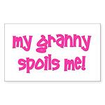 My Grandma Spoils Me! pink Rectangle Sticker