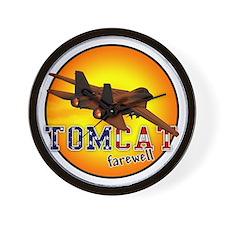 f-14 tomcat farewell Wall Clock