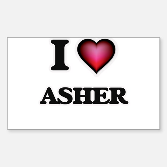 I love Asher Decal