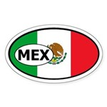 Flag of Mexico Oval Sticker