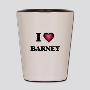 I love Barney Shot Glass