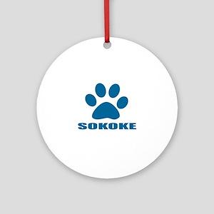 Sokoke Cat Designs Round Ornament