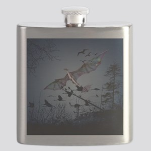 Awesome flying dragon Flask
