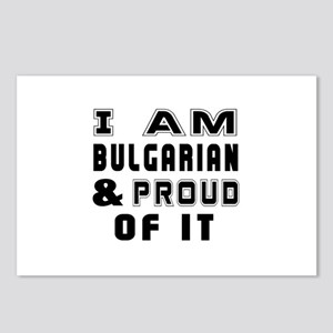 I Am Bulgarian And Proud Postcards (Package of 8)