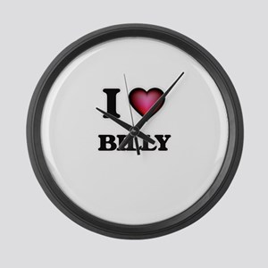 I love Billy Large Wall Clock