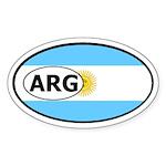Argentina Flag Oval Sticker