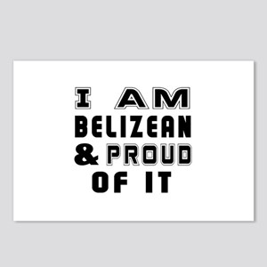 I Am Belizean And Proud O Postcards (Package of 8)