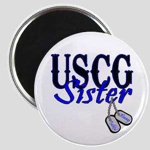 USCG Sister Dog Tag Magnet