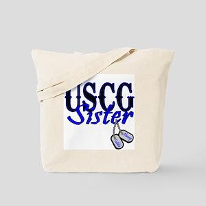 USCG Sister Dog Tag Tote Bag