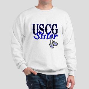 USCG Sister Dog Tag Sweatshirt