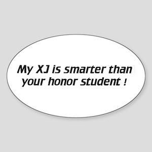 My XJ is smarter - Euro Oval Sticker