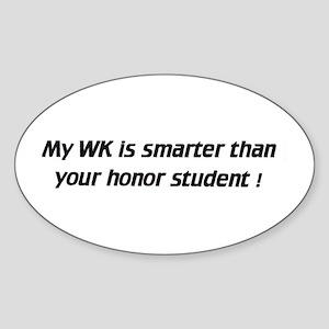 My WK is smarter - Euro Oval Sticker