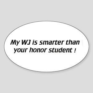 My WJ is smarter - Euro Oval Sticker