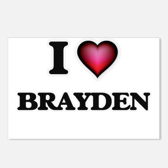 I love Brayden Postcards (Package of 8)